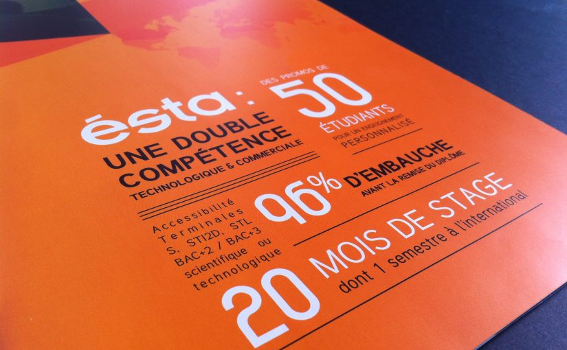 Dépliant Ecole Superieure des technologies et des affaires Belfort