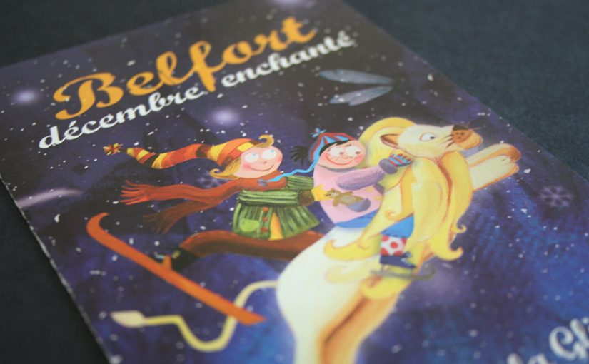 Dépliant Belfort Décembre Enchanté Noël Print