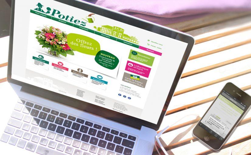 Maquette Site Web Jardinerie Potiez