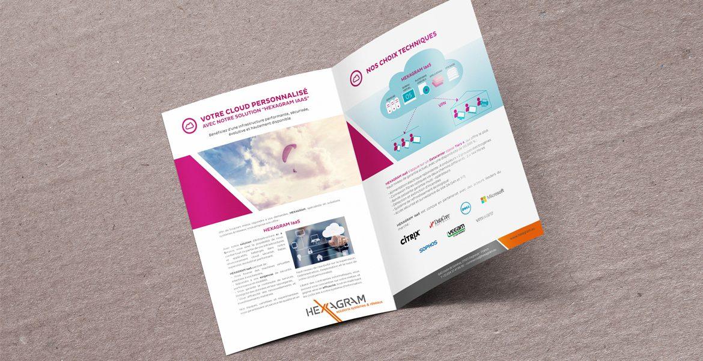 Plaquette d'informations pour l'entreprise Hexagram