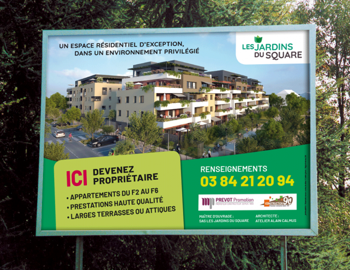 Un espace résidentiel d'exception à Belfort, Les jardins du Square