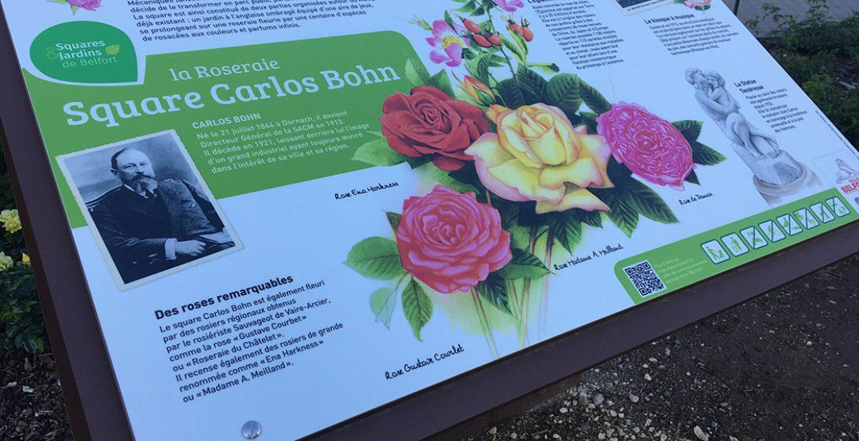 Panneau signalétique: le Square Carlos Bohn