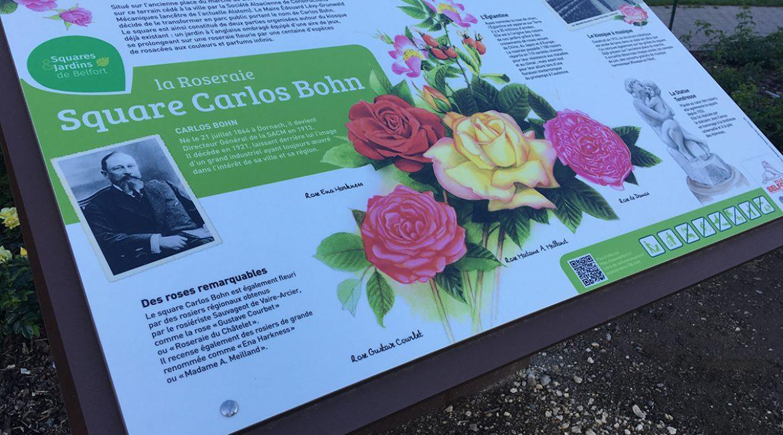 Nouvel signalétique pour le Square Carlos Bohn