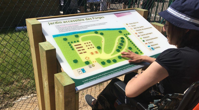 Inauguration du Jardin accessible des Forges – Belfort