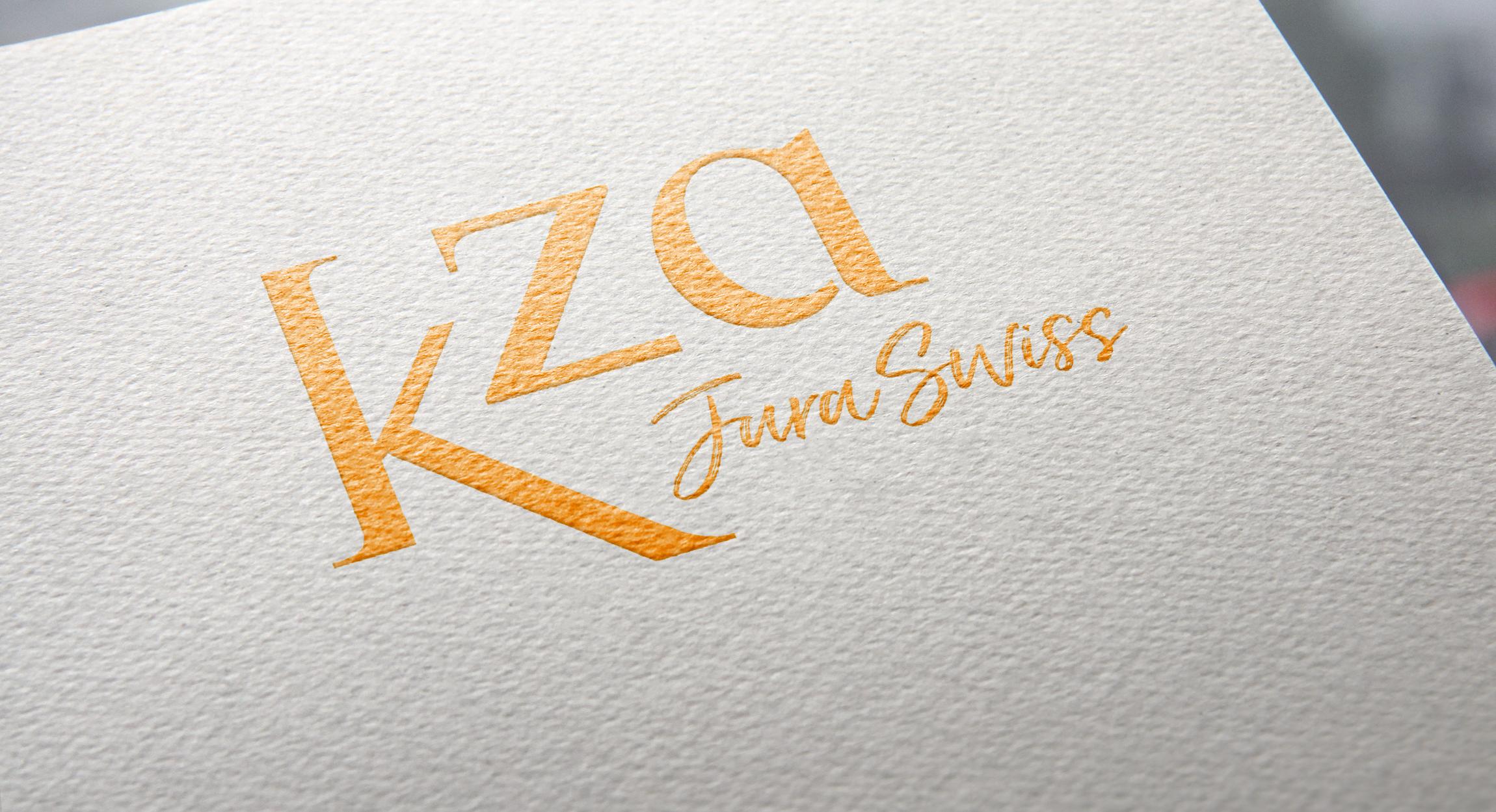 Création d'une identité visuelle pour K-ZA, un projet de villégiatures en Suisse
