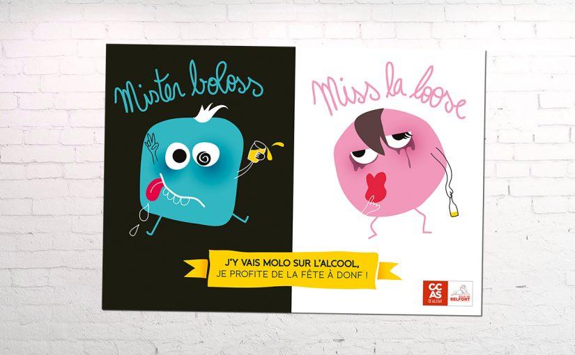 Affiche Campagne Prévention Alcool CCAS de Belfort