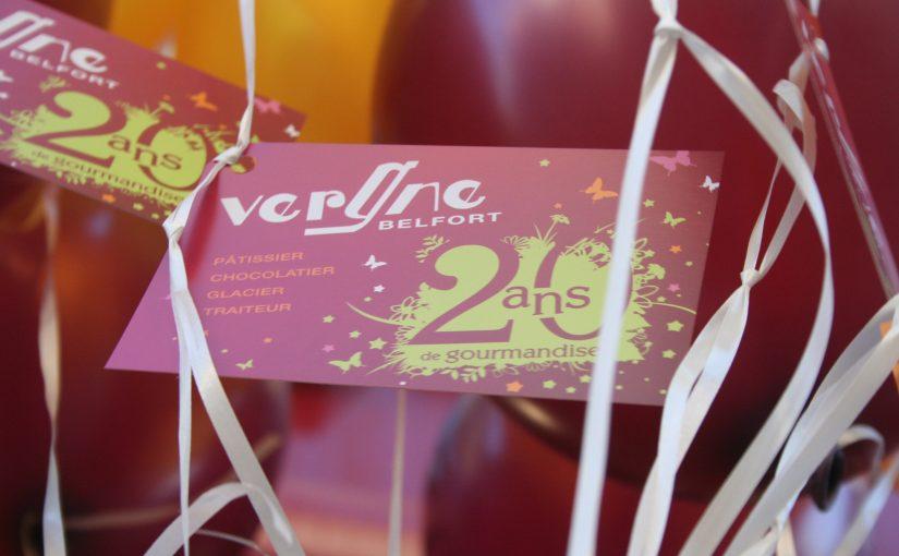 Étiquettes Ballons 20 ans Vergne