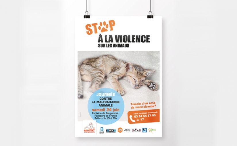 Poster Mockup Maltraitance animale