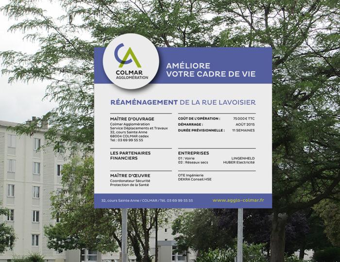 Nouvelle signalétique de chantier pour Colmar Agglomération !