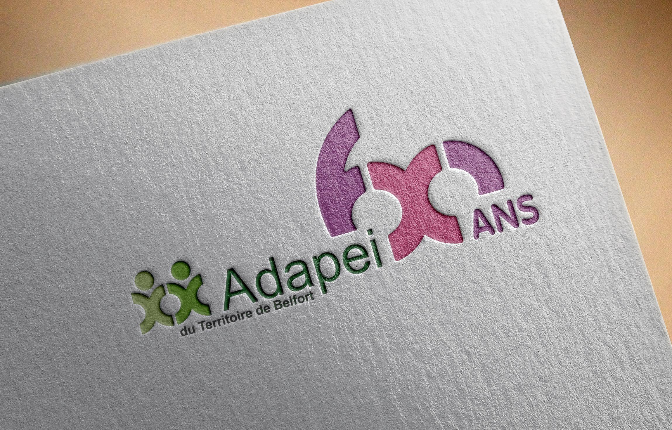 Un logo pour les 60 ans de l'Adapei 90