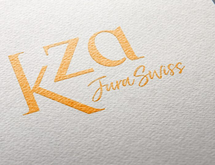 Création d'une identité visuelle pour K.ZA, un projet de villégiatures en Suisse