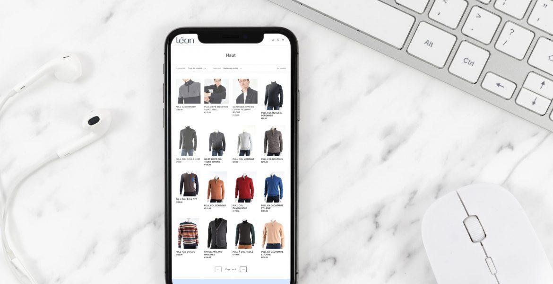 Réalisation d'un site e-commerce pour le magasin Léon habilleur