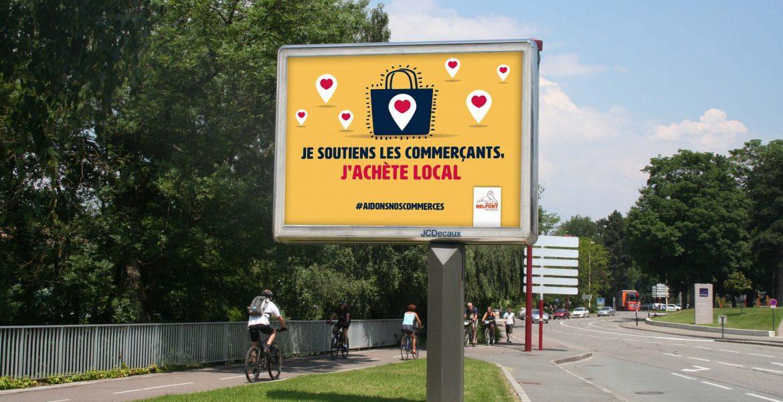 Une campagne pour soutenir nos commerçants locaux.