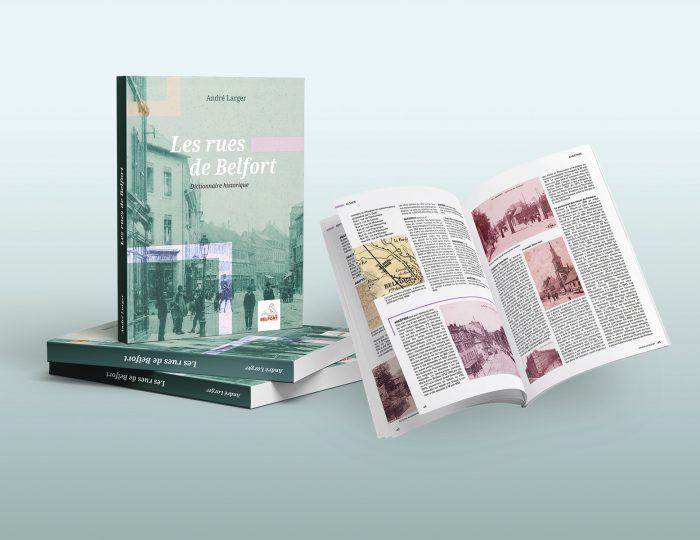Les rues de Belfort, ouvrage édité par la Ville de Belfort